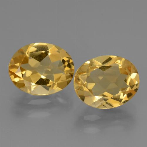 2.3ct Oval Facet Yellow Golden Citrine Gem (ID: 433503)