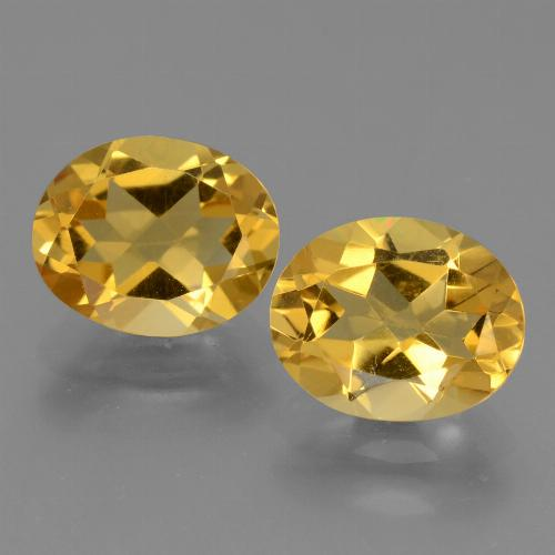 Yellow Golden Citrine Gem - 2.4ct Oval Facet (ID: 433536)