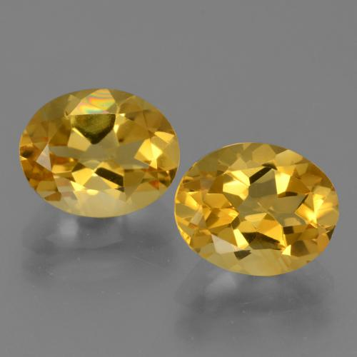Deep Gold Citrine Gem - 2.5ct Oval Facet (ID: 433537)