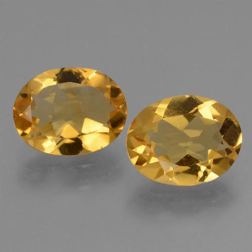 Yellow Golden Citrine Gem - 2.3ct Oval Facet (ID: 433555)