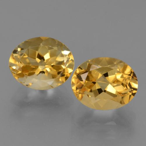 Deep Golden Orange Citrine Gem - 2.8ct Oval Facet (ID: 433563)