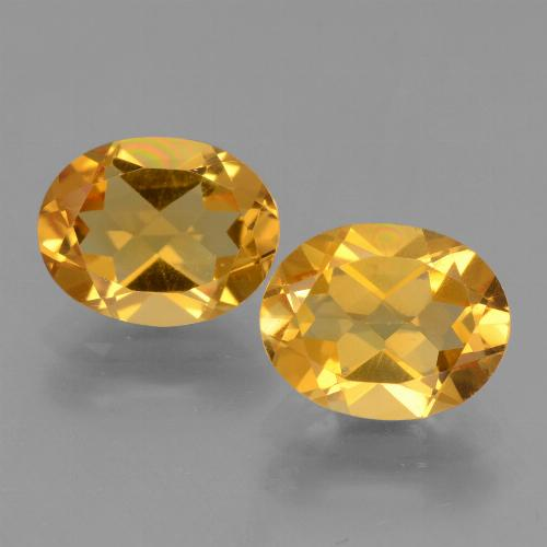 Yellow Citrine Gem - 2.2ct Oval Facet (ID: 433564)