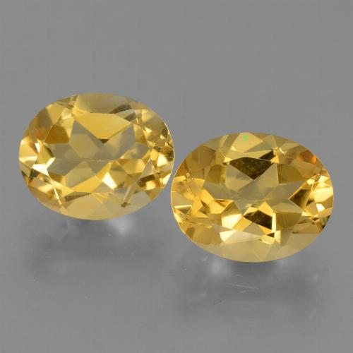 Yellow Golden Citrine Gem - 2.5ct Oval Facet (ID: 433565)