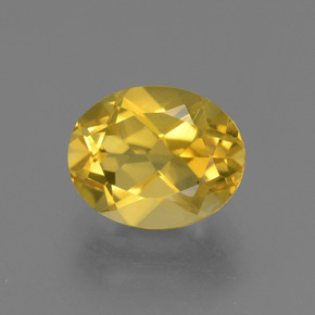 2.6ct Oval Facet Honey Yellow Citrine Gem (ID: 433593)