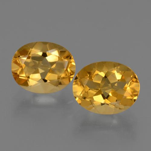 Yellow Citrine Gem - 2.5ct Oval Facet (ID: 433627)