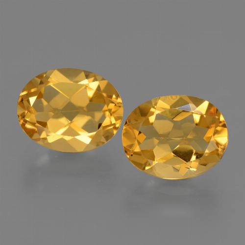 Yellow Golden Citrine Gem - 2.4ct Oval Facet (ID: 433629)