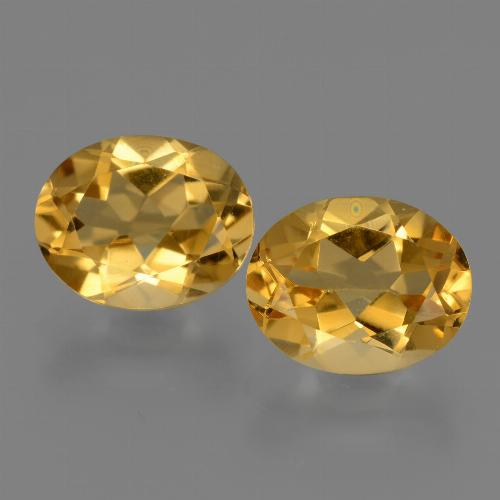 Yellow Golden Citrine Gem - 2.5ct Oval Facet (ID: 433632)