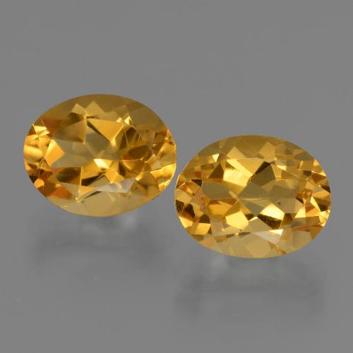 Yellow Citrine Gem - 2.6ct Oval Facet (ID: 433636)