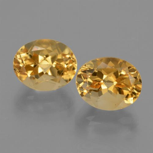 Deep Golden Orange Citrine Gem - 3.2ct Oval Facet (ID: 433676)