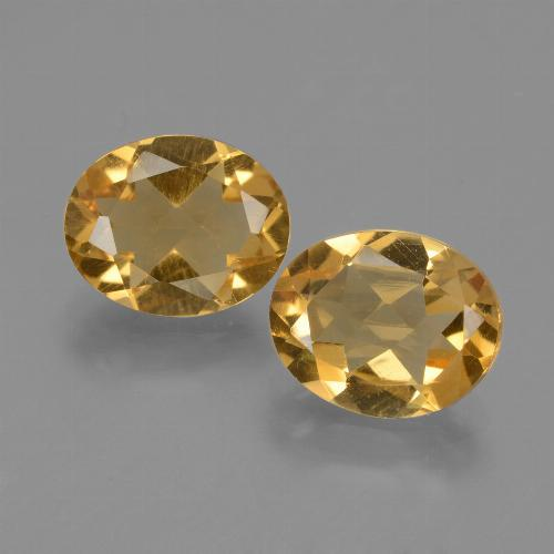 Medium-Dark Golden Citrina Gema - 2.1ct Forma ovalada (ID: 433680)