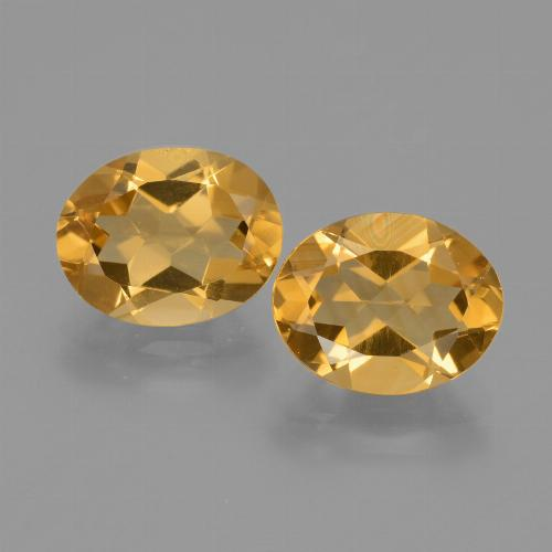 Yellow Golden Citrine Gem - 2.3ct Oval Facet (ID: 433683)
