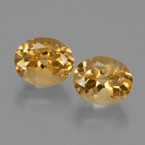Yellow Golden Citrine Gem - 2.8ct Oval Facet (ID: 433684)