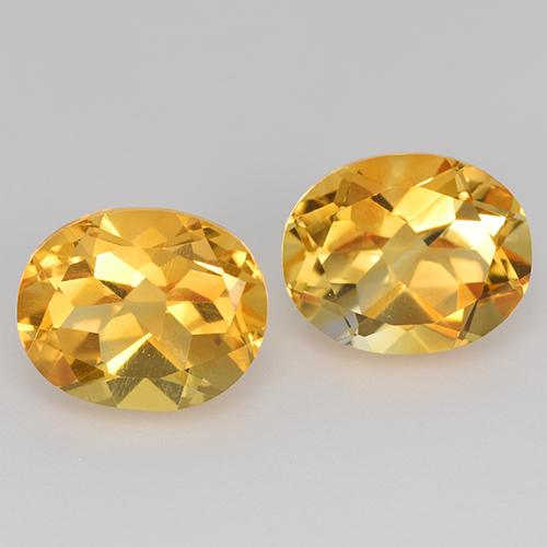 Yellow Golden Citrine Gem - 2.5ct Oval Facet (ID: 433685)