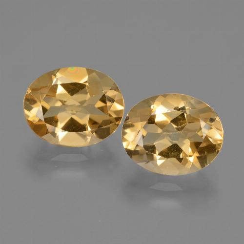 Yellow Golden Citrine Gem - 2.4ct Oval Facet (ID: 433686)