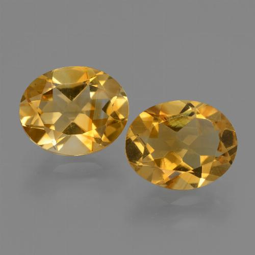 Deep Golden Orange Citrina Gema - 2.2ct Forma ovalada (ID: 433702)