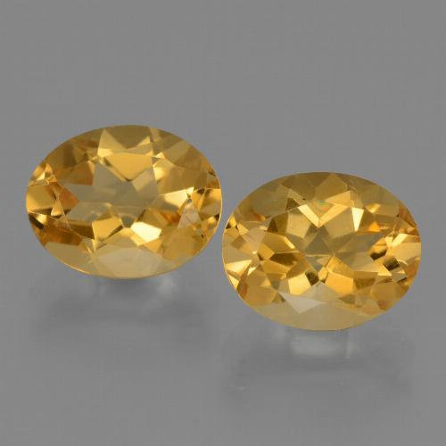 Yellow Golden Citrine Gem - 2.5ct Oval Facet (ID: 433706)