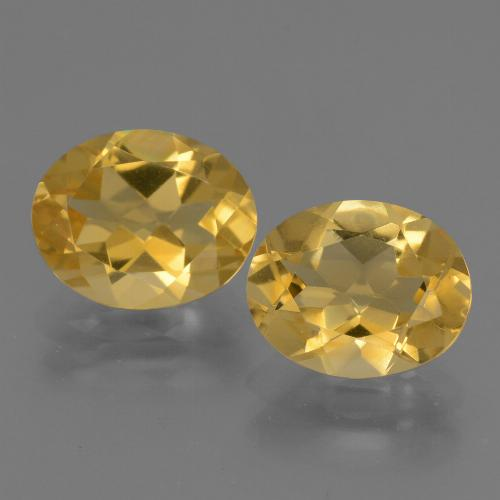 Yellow Golden Citrine Gem - 2.3ct Oval Facet (ID: 433737)