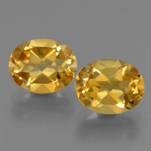 Yellow Golden Citrine Gem - 2.6ct Oval Facet (ID: 433738)