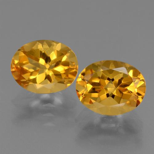 Yellow Golden Citrine Gem - 2.4ct Oval Facet (ID: 433742)