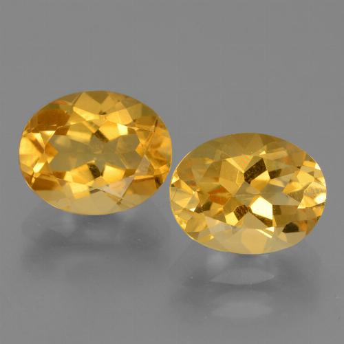Yellow Golden Citrine Gem - 2.6ct Oval Facet (ID: 433745)