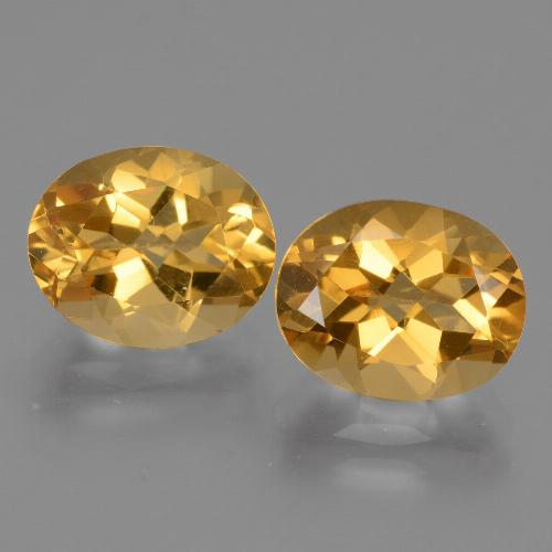 Yellow Golden Citrine Gem - 2.7ct Oval Facet (ID: 433748)