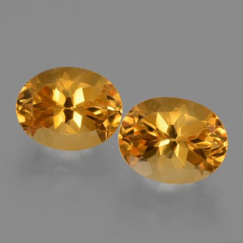Yellow Citrine Gem - 2.9ct Oval Facet (ID: 433749)