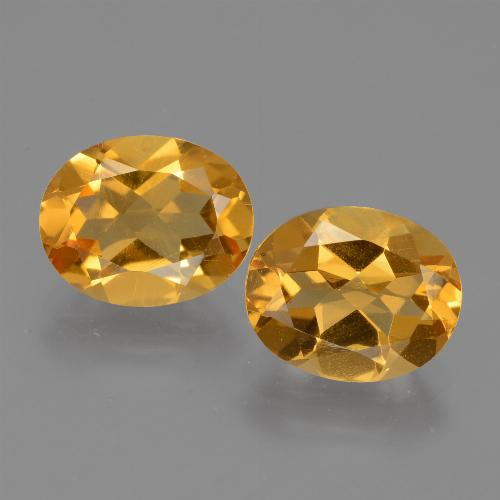 Yellow Golden Citrine Gem - 2.3ct Oval Facet (ID: 433754)