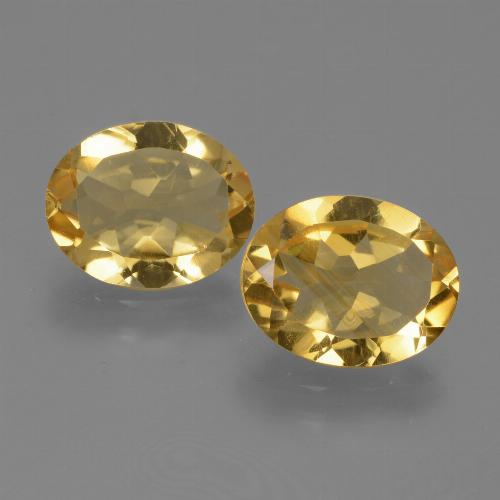 Yellow Citrine Gem - 2.2ct Oval Facet (ID: 433785)
