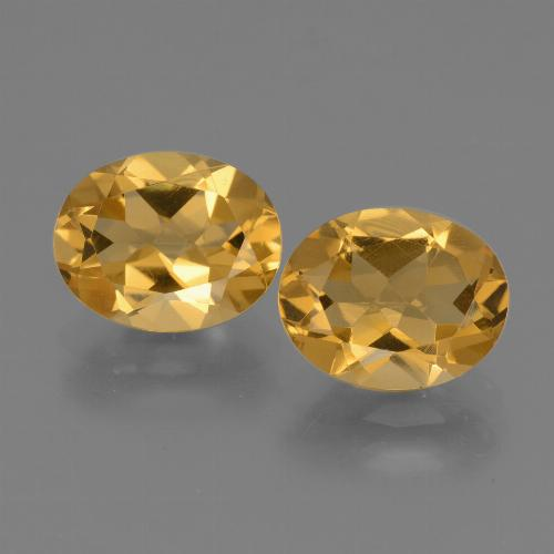 Yellow Citrine Gem - 2.4ct Oval Facet (ID: 433846)