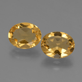 Yellow Golden Citrine Gem - 2.3ct Oval Facet (ID: 433847)