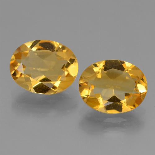 Yellow Golden Citrine Gem - 2.1ct Oval Facet (ID: 433858)