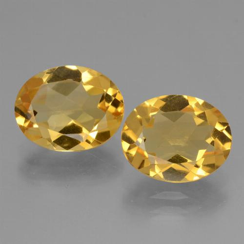 Yellow Golden Citrine Gem - 2.3ct Oval Facet (ID: 433863)