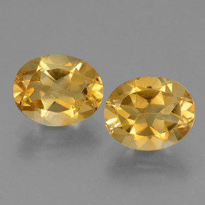 Yellow Golden Citrine Gem - 2.4ct Oval Facet (ID: 433904)