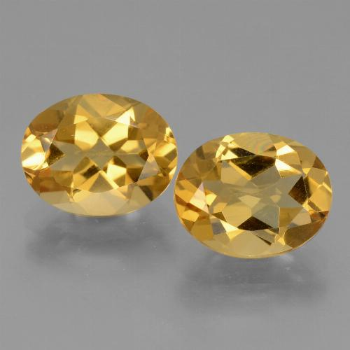 Yellow Golden Citrine Gem - 2.4ct Oval Facet (ID: 433907)