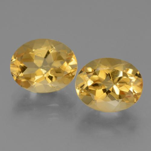 Yellow Golden Citrine Gem - 2.6ct Oval Facet (ID: 433908)