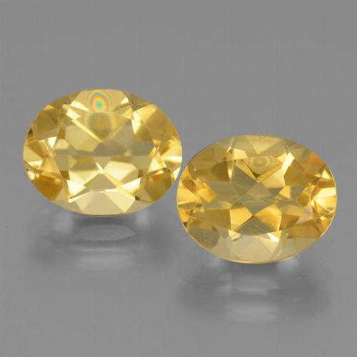 Yellow Golden Citrine Gem - 2.3ct Oval Facet (ID: 433911)