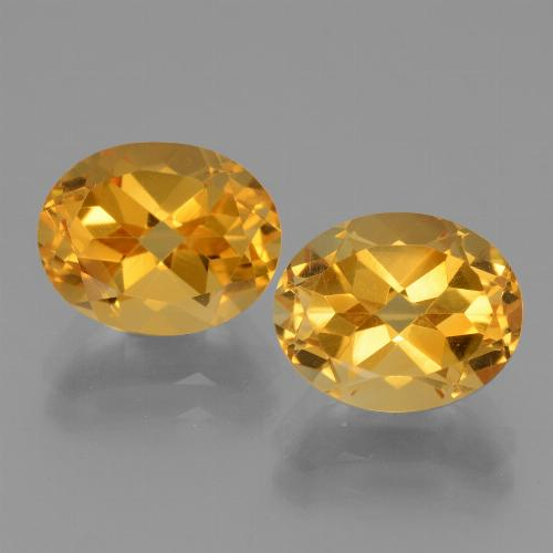 Yellow Golden Citrine Gem - 2.7ct Oval Facet (ID: 433913)