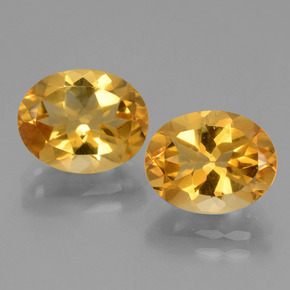 Yellow Golden Citrine Gem - 2.6ct Oval Facet (ID: 433914)