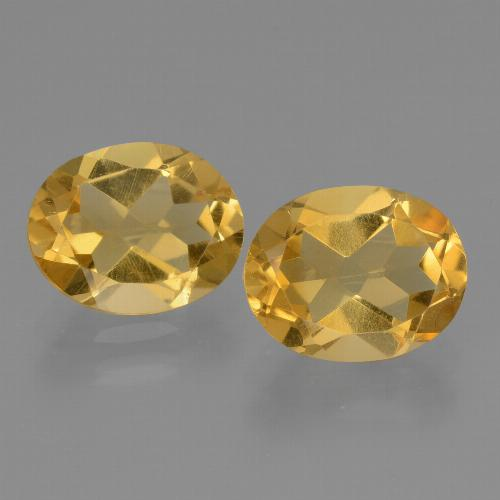 Yellow Citrine Gem - 2.2ct Oval Facet (ID: 433949)