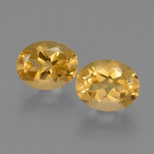 Yellow Golden Citrine Gem - 2.5ct Oval Facet (ID: 433979)