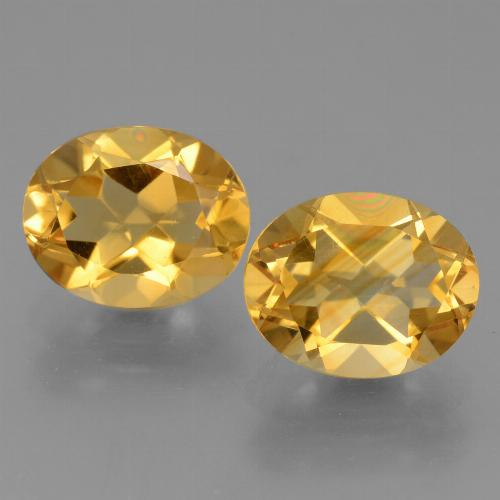 Bright Gold Citrine Gem - 2.7ct Oval Facet (ID: 434011)