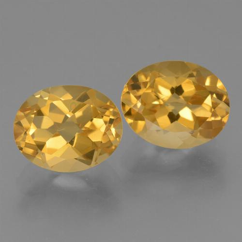 Yellow Golden Citrine Gem - 2.8ct Oval Facet (ID: 434013)