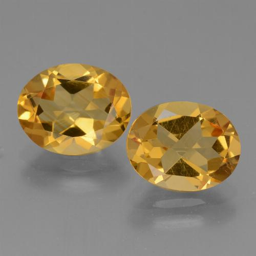 Yellow Golden Citrine Gem - 2.2ct Oval Facet (ID: 434020)