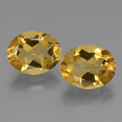 Yellow Golden Citrine Gem - 2.3ct Oval Facet (ID: 434022)