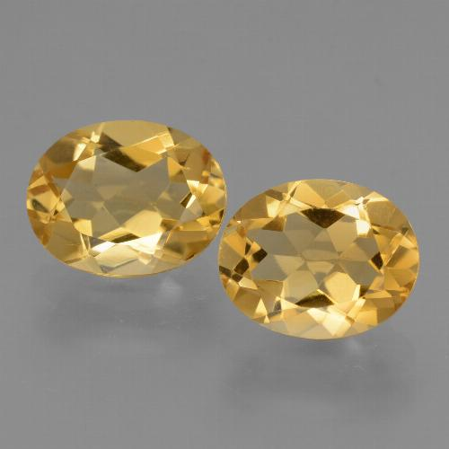 Yellow Citrine Gem - 2.5ct Oval Facet (ID: 434050)
