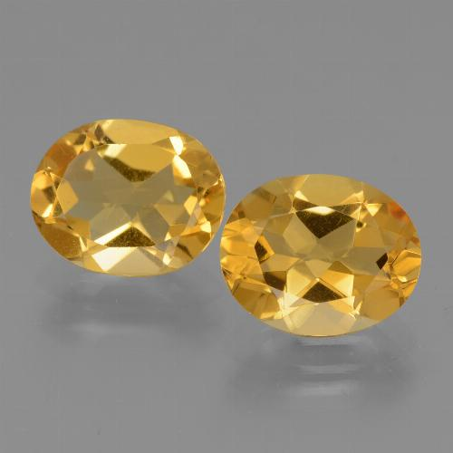 Medium Golden 黄水晶 Gem - 2.2ct 椭圆形切面 (ID: 434056)