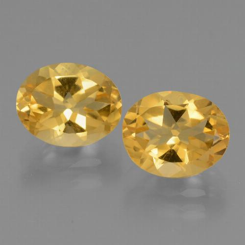 Yellow Citrine Gem - 2.5ct Oval Facet (ID: 434057)