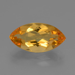6ct Marquise Facet Yellow Golden Citrine Gem (ID: 434159)