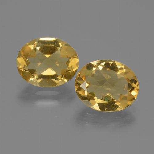Yellow Citrine Gem - 2.1ct Oval Facet (ID: 435370)