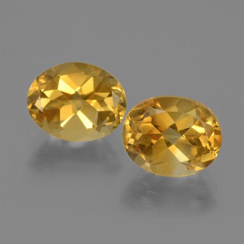 Yellow Golden Citrine Gem - 2.5ct Oval Facet (ID: 435371)